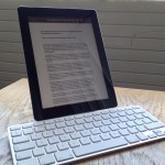 The Apple iPad keyboard